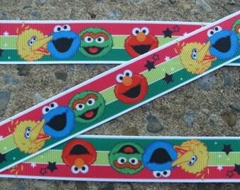 "3 yards Sesame Street Printed Ribbon 7/8"" hair bow ribbon"