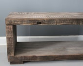 Driftwood Coffee Table,  Media Stand, Handmade From Reclaimed Wood