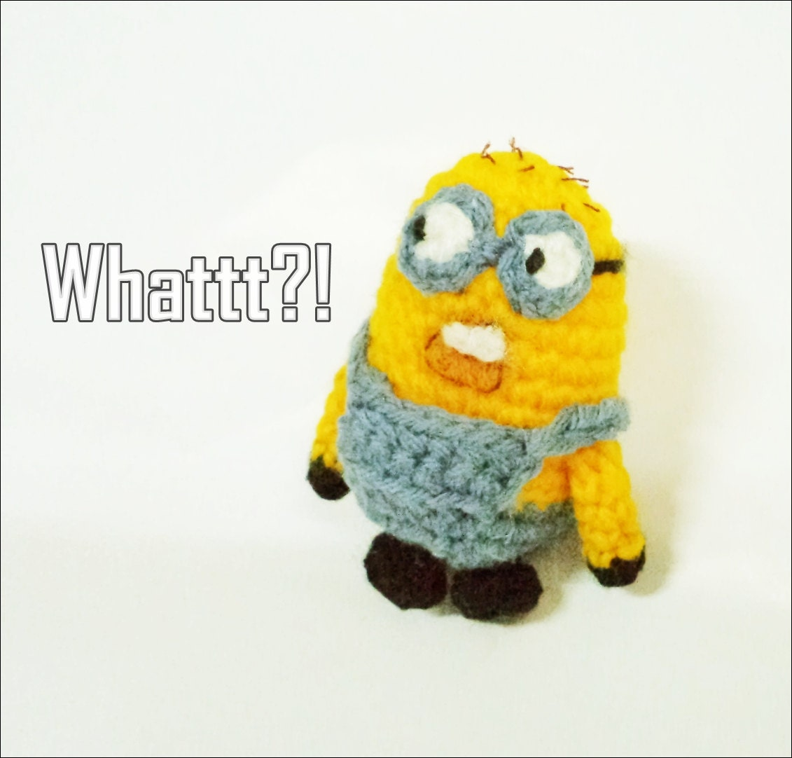 Amigurumi Minion Etsy : Items similar to Minion What - Charactor DOll , Amigurumi ...