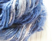 Banana Viscose (Vegan Silk) Yarn, Chunky, Light Purple, Blue and White 'Blueberry Smoothie' 100g approx 20yards/18metres