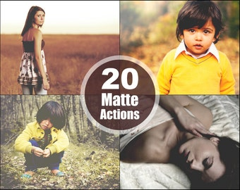 Matte Photoshop Elements Actions