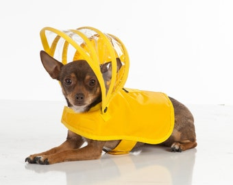Dog Raincoat - Yellow - Rainbow Line