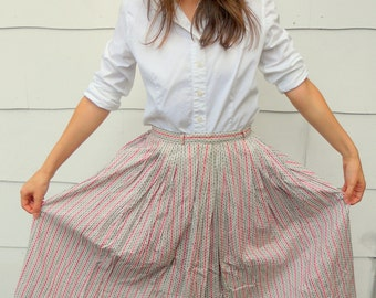 Vintage 1950's Pink and Gray Skirt (#25-14)