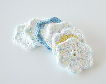 Makeup Removers, Crochet Face Scrubbies, Facial Cleansing Pads, Washcloth