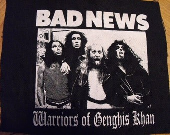 BAD NEWS patch heavy metal young ones punk comedy spinal tap Free Shipping