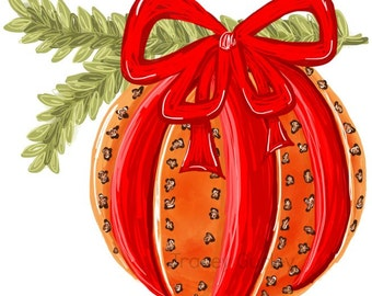 Pomander Holiday Orange and Clove with and without greenery- Original art download 4 files