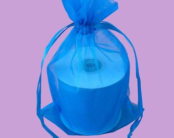 10  7''x9'' Turqoise  Organza Jewelry Gift Pouch Bags Great For Wedding favors, sachets, beads, jewelry, and more