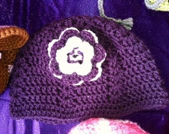 Purple shell hat
