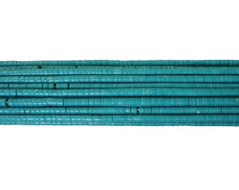 Stablized Turquoise Heishi Beads (4mm , 24 Inches Strand)