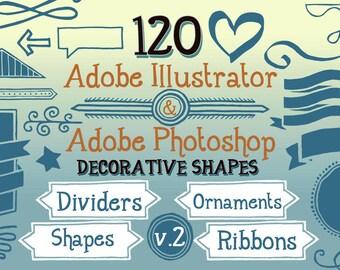 120 Handwritten Decorative Shapes 02