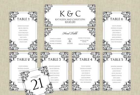 Wedding Seating Chart Template DOWNLOAD by KarmaKWeddings ...