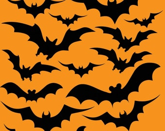 HALLOWEEN STICKERS, bats, witches, pumpkins, party, craft, easy peel