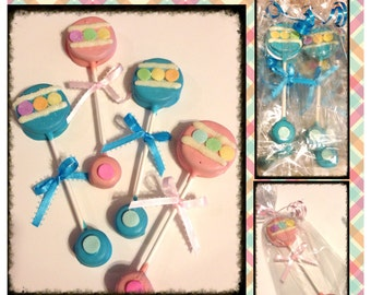 Baby Shower Rattle Oreo's - Baby shower favors set of 12