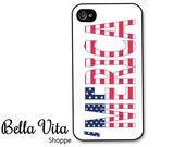 iPhone 4 Case - 'Merica iPhone 4 4s Case, iPhone 4 Protective Case, Cases for iPhone 4, Rubber iPhone Case (4060)