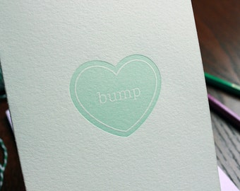 Baby Bump Letterpress Card