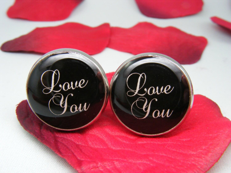 Love You Cufflinks - Valentine's Day - Mens Accessories - Geekery ...
