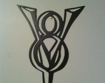 V8 Dodge Metal Wall Art