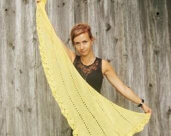 ready to ship yellow scarf bridal Scarf women scarves women gift weddin gknit triangle scarf women accessories women scarf kniiting scarf