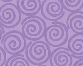 One Yard Curiosities - Whirligig in Amethyst  - Little Girl Fabric Line Designed by Nancy Halvorsen for Benartex (W923)