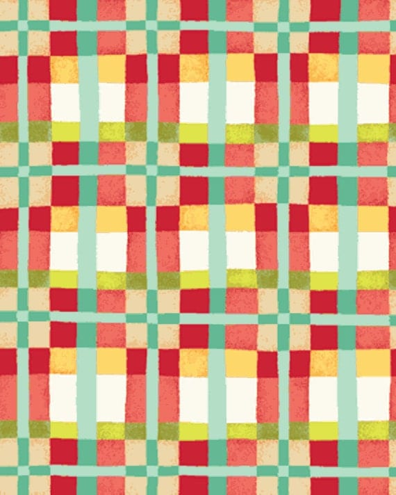 One yard mischief happy plaid in red little boy fabric for Little boy fabric