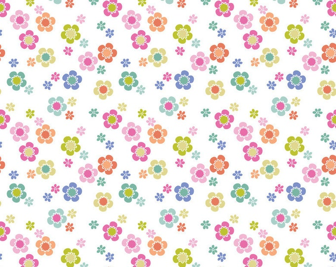 SALE!! Fat Quarter Paisleigh Dainty Blooms in White Cotton Quilt Fabric - Maude Asbury for Blend Fabrics - Paisley Design (W414)