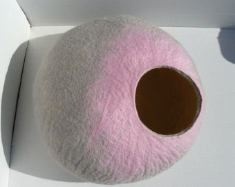 Cat Bed / Cat Cave / Cat Den / Cocoon / Cat House Gray    and GIFT