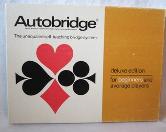 1969 Autobridge by Parker Brothers Vintage Self-Teaching Bridge System Deluxe Edition