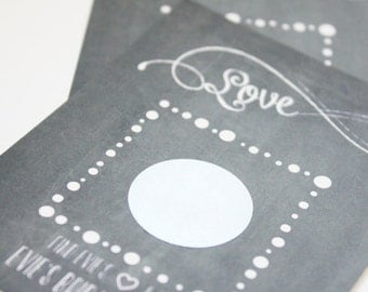 Bridal Shower Game: Scratch Off Card-Chalkboard - 12 Ct