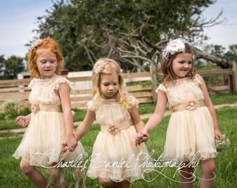 Beige toddler dress - Etsy