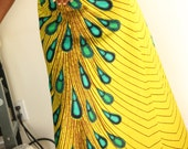 African Peacock long skirt/ plus size /
