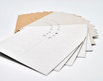 100 Folded gift tags I Double sided cardstock - kraft, white, gray I Card tags, favor tags, thank you tags, place cards, mini cards