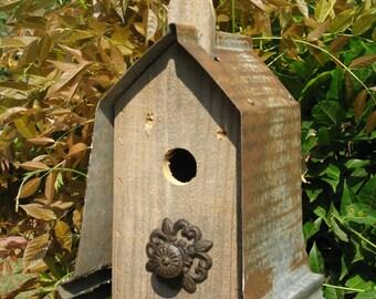 Birdhouse, Birdhouses, Barnwood Bird House, Rustic Bird House, Primitive Bird House, Rustic birdhouse, primitive birdhouse