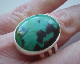 Turquoise (Natural) 925 Sterling Silver Size 9.50 Ring
