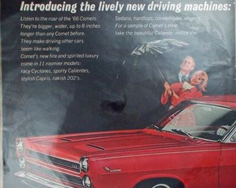 Vintage print ad from 1966 for Mercury Comet