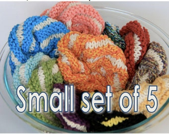 Small - set of 5 scrubbies - assorted colors