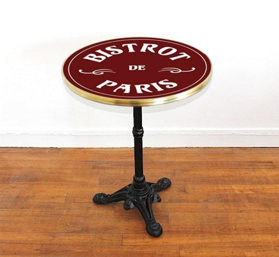 table de bistrot emaillee bistrot de paris ronde 60 cm par ardamez. Black Bedroom Furniture Sets. Home Design Ideas