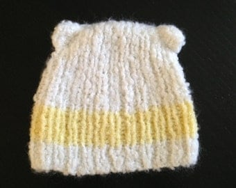 Extra soft baby hat with teddy ears
