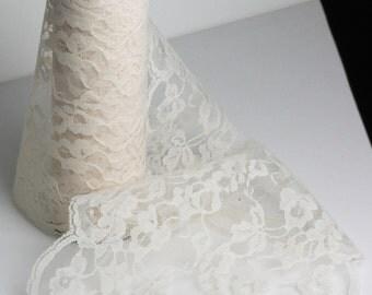 """Ivory Pattern Lace Ribbon - 9"""" x 10 Yards"""