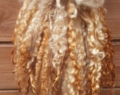 Stunning Teeswater Locks Shearling grade AA English Wool - Extreme tail spinning