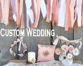 Custom Wedding Decor Package, 18 Piece Bridal Decoration Accessories, Wedding Reception Photo Props, Backdrop, Eclectic