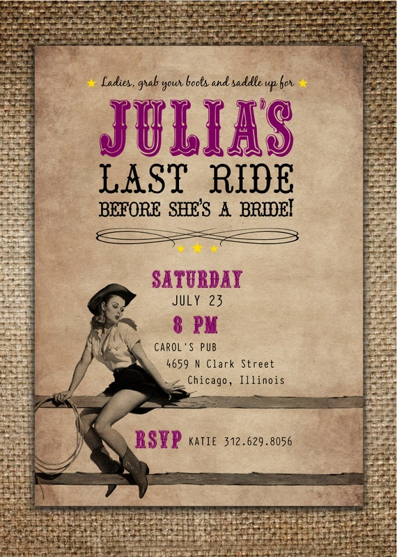 Cowboy Party Invites was luxury invitations sample