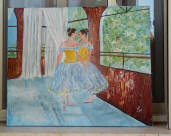 Ballerina.Tutu. Original Oil painting.
