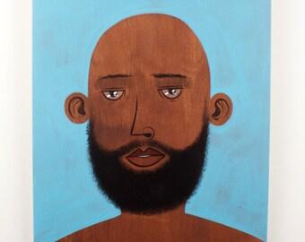 Beard Man / Original Painting