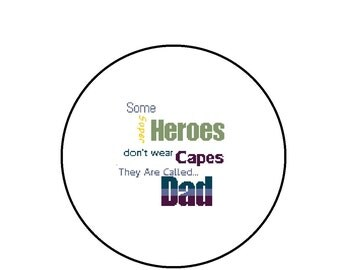 Super Hero Dad Cross Stitch Pattern - Happy Father's Day Text PDF Download
