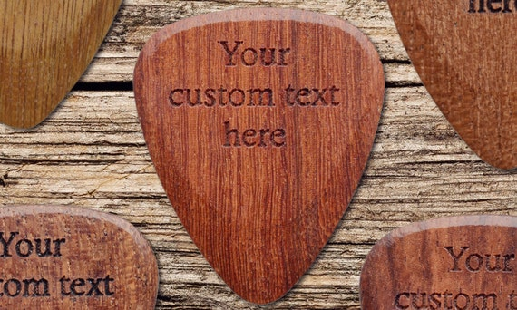 custom engraved guitar pick plectrum choice of by carvecode. Black Bedroom Furniture Sets. Home Design Ideas