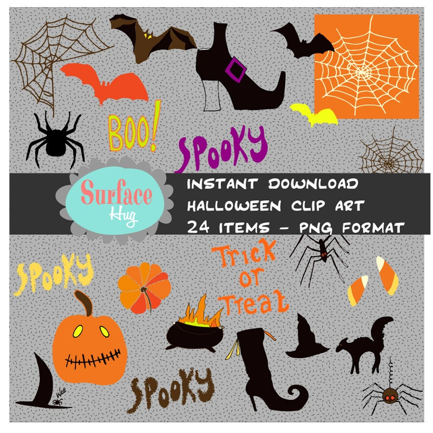 HALLOWEEN CLIPART Halloween Party Clip Art Black Cat Clipart
