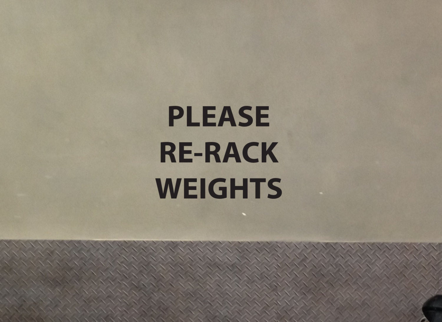 Please Re Rack Weights Gym Wall Or Mirror Decal Sign