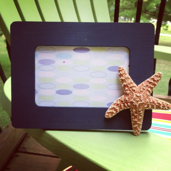 Starfish Wooden Nautical inspired Picture frame