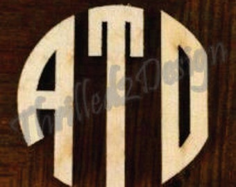 36 inch Circle Cut Wooden Monogram - Wedding, Nursery, Home Decor