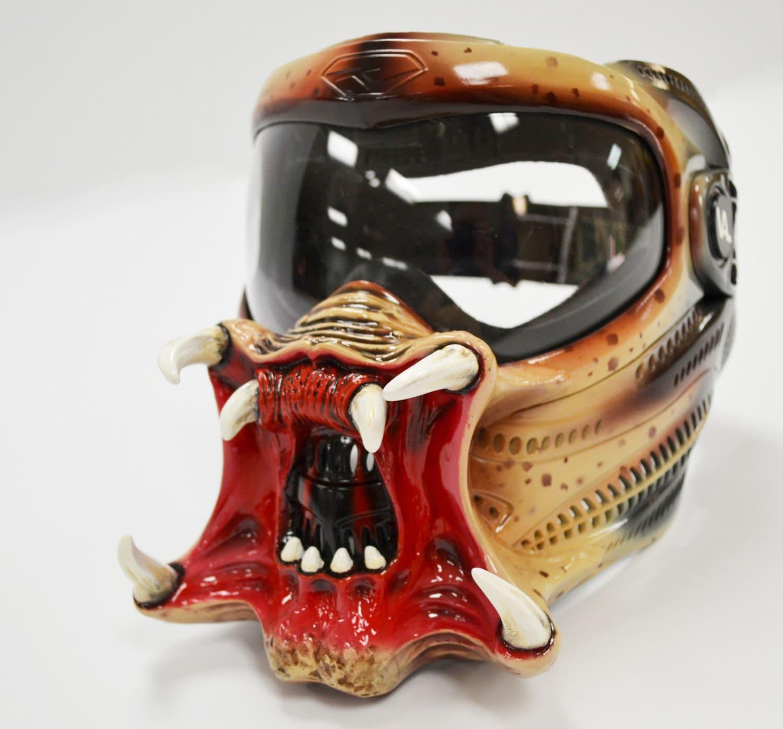 predator mask paintball mask custom made halloween mask